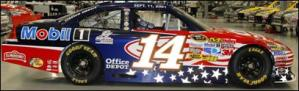 Tony Stewart Patriotic Car
