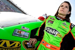 Danica Patrick outside the GoDaddy car