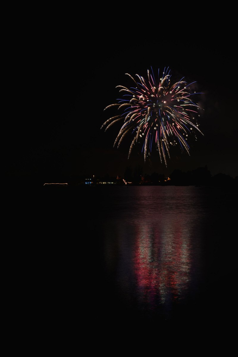 Fireworks at Shoreline Lake