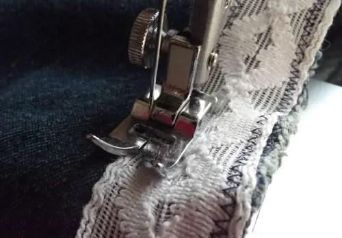altered denim - a jean jacket to boho vest refashion DIY