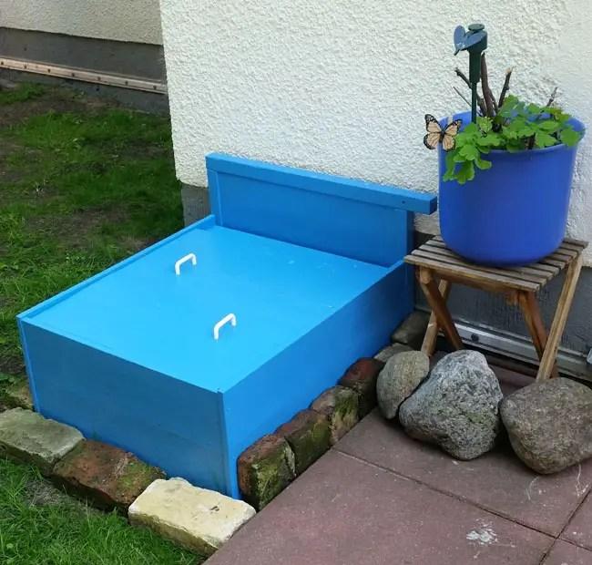 Upcycled sandbox DIY