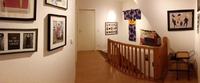 my thrifty diy stairway & landing decor