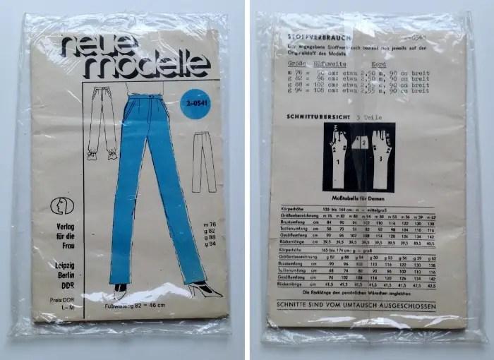 Verlag für die frau vintage trouser pattern