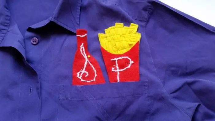 diy french fry & ketchup blouse