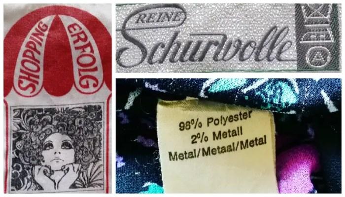 Vintage clothingtags