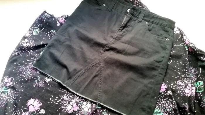 Vintage dress refashion - top and skirt tutorials