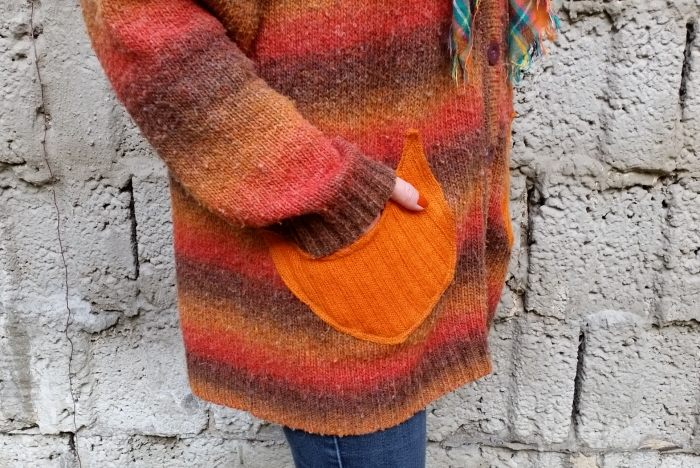 how to add pockets to a sweater