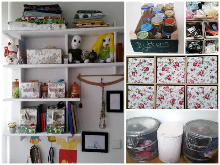 Thrifty refashionista stash storage