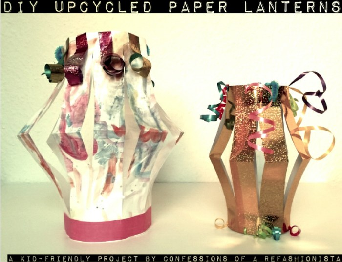 easy DIY upcycled paper lanterns