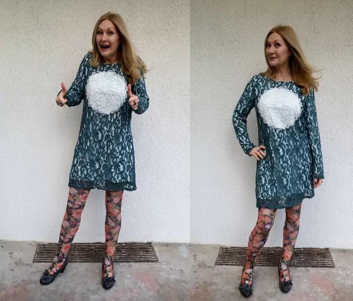 lace dress refashion after