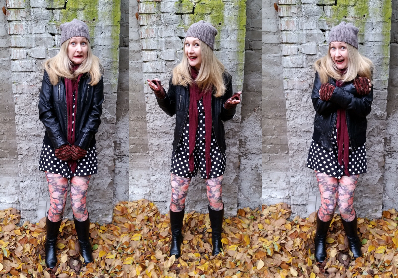 thrifty Autumn pattern mixing ootd 2