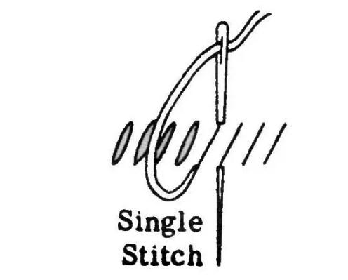 single stitch embroidery