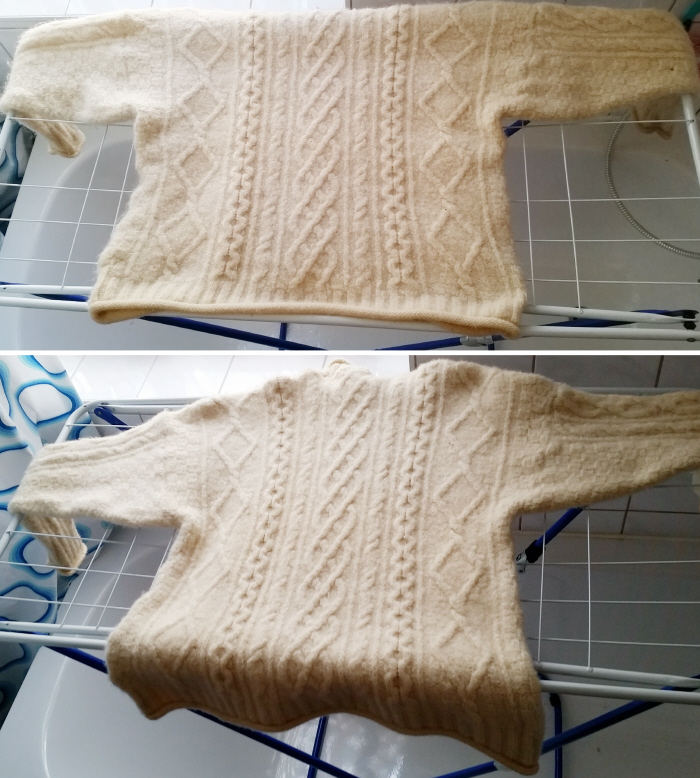 How to stretch a shrunken sweater