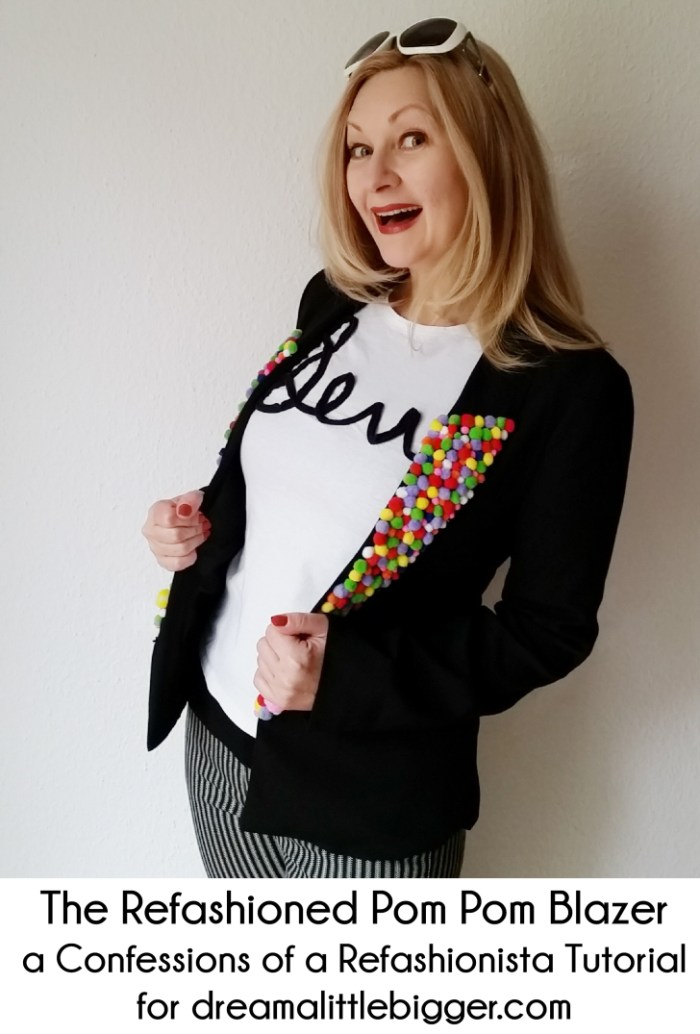 The Refashioned Pom Pom Blazer