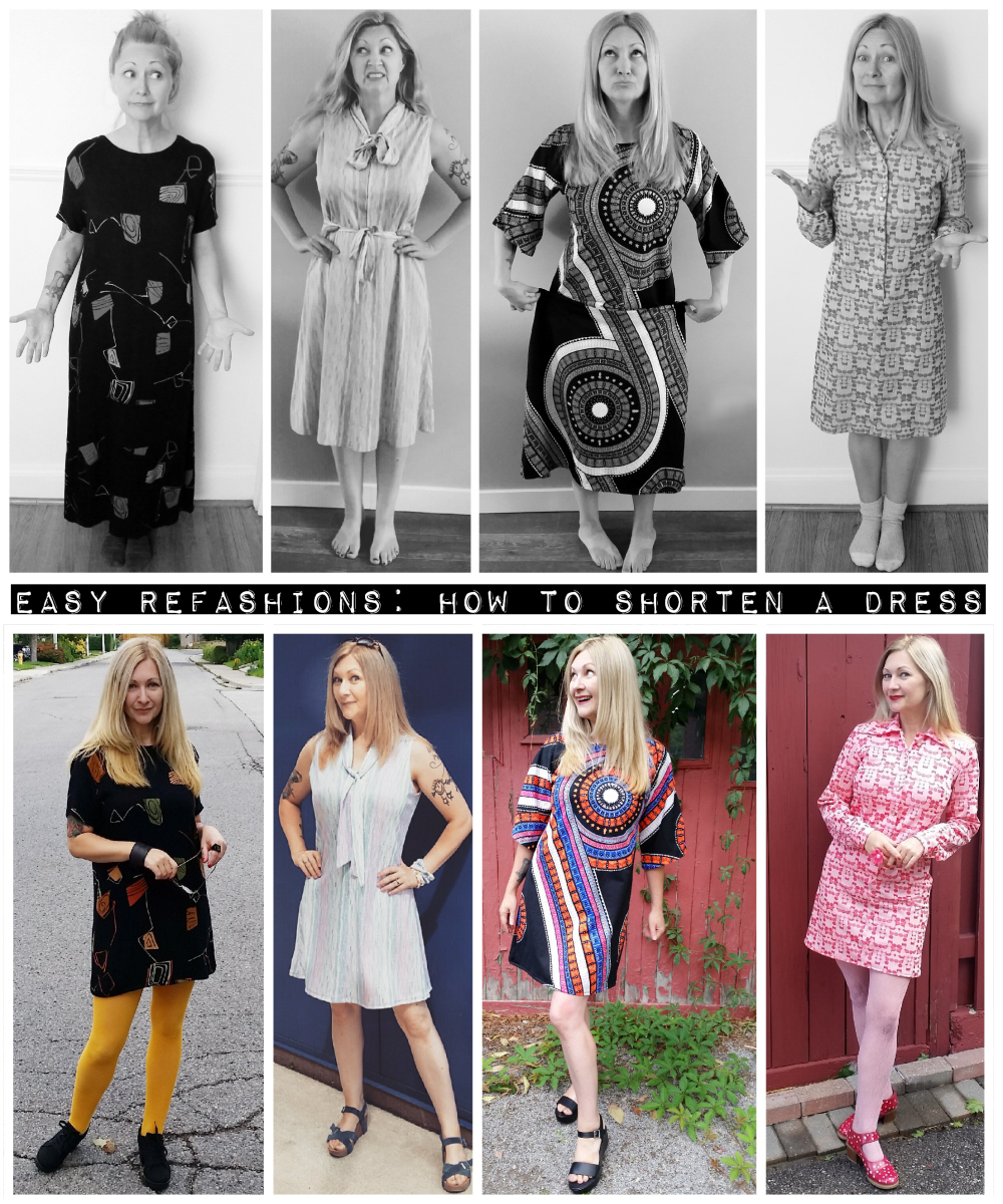 Easy Refashions: How to shorten a dress