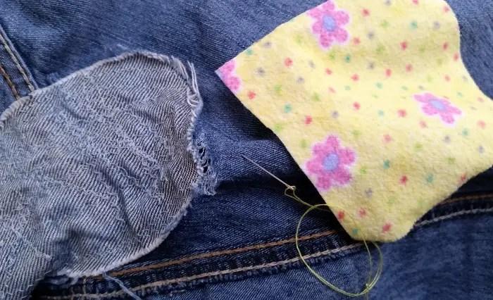 Mend jeans with Sashiko stitching