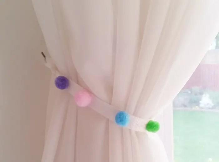 No Sew DIY PomPom Curtains