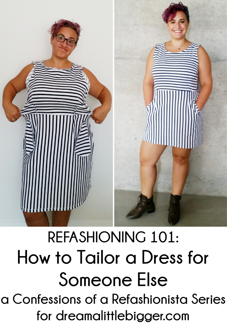 Refashioning 101: how to tailor a dress for someone else