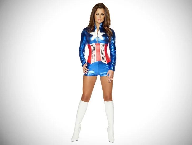 Traje cosplay do capitão América feminina - cosplay idéias para meninas