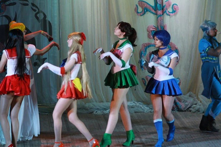 Fato Cosplay de Sailor Moon Scout Uniforme Fuku Anime