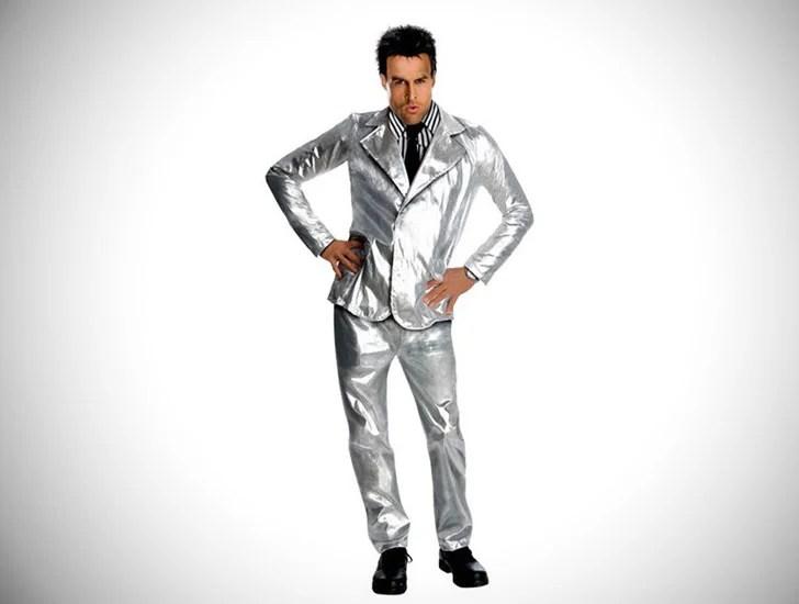 Traje de Derek Zoolander de prata para homem - ideias de cosplay para rapazes