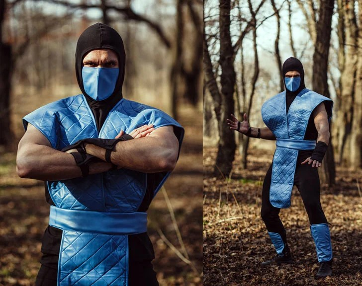 Mortal Kombat Video Game Sub Zero Cosplay - Ideias de Cosplay para Homens