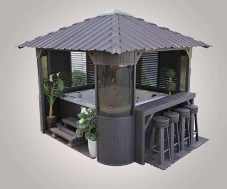 Hot Tub Swim-Up Bar Gazebo