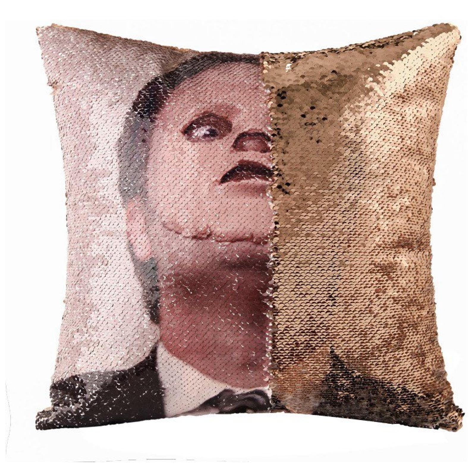 dwight schrute the mask sequin pillow