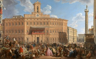 Full title: The Lottery in Piazza di Montecitorio Artist: Giovanni Paolo Panini Date made: 1743-4 Source: http://www.nationalgalleryimages.co.uk/ Contact: picture.library@nationalgallery.co.uk Copyright (C) The National Gallery, London