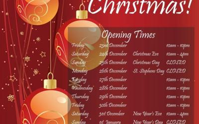 Christmas Opening Times 2016