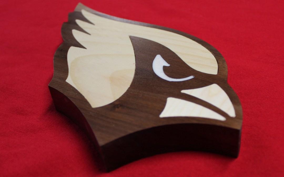 Cardinals Logo Artwork Walnut with Inlays