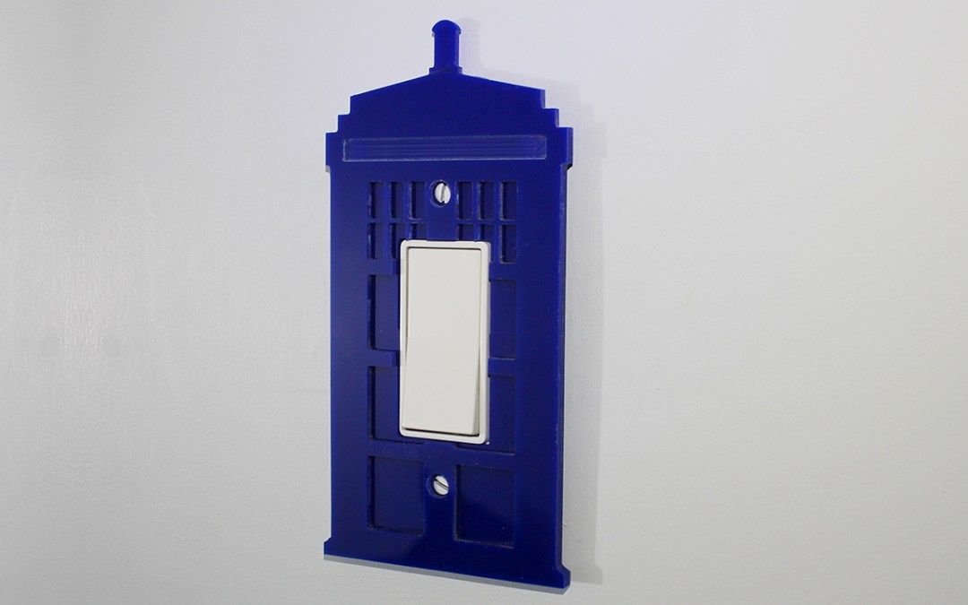 Acrylic TARDIS Lightswitch Cover