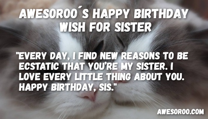 318   BEST  Happy Birthday Sister Status Quotes   Wishes  Mar  2018  cute sister quote for birthday