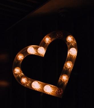 heart on black background mobile