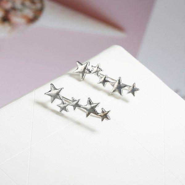 Women S Cute Star Shaped Climber Earrings 5