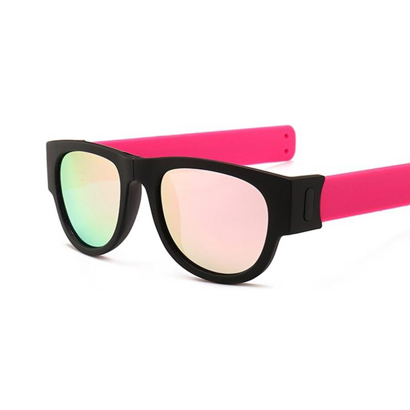 Novelty Mirror Men Polarized Folding Sunglasses1