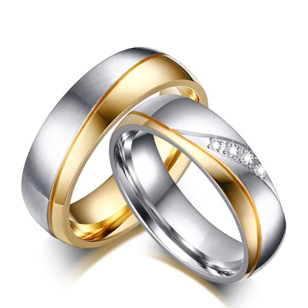 Excellent Cubic Zirconia Wedding Rings for Men and Women 3