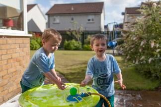 jude 4 ben 3 play summer garden water home sunny day wet August 2015_2