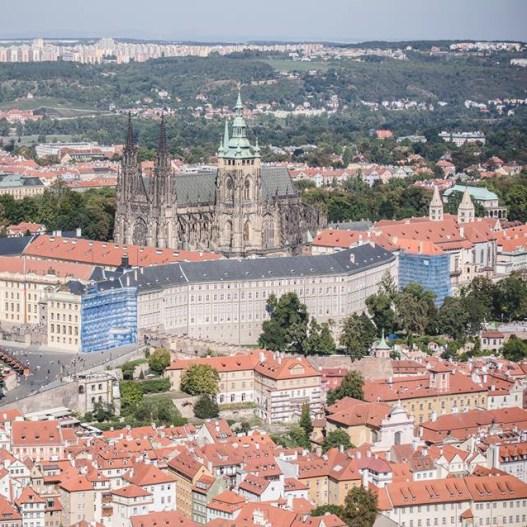 Prague Castle from Petřín Tower