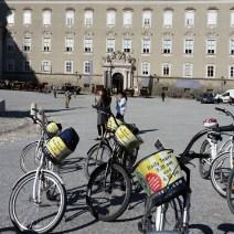 Bikes in Residents Plaza