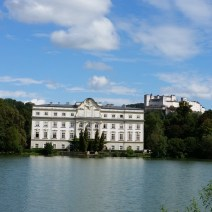 The back of the von Trapp family house for SOM, with the lake and fortress