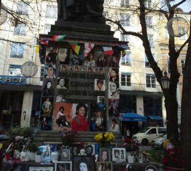 Odd memorial to Micheal Jackson
