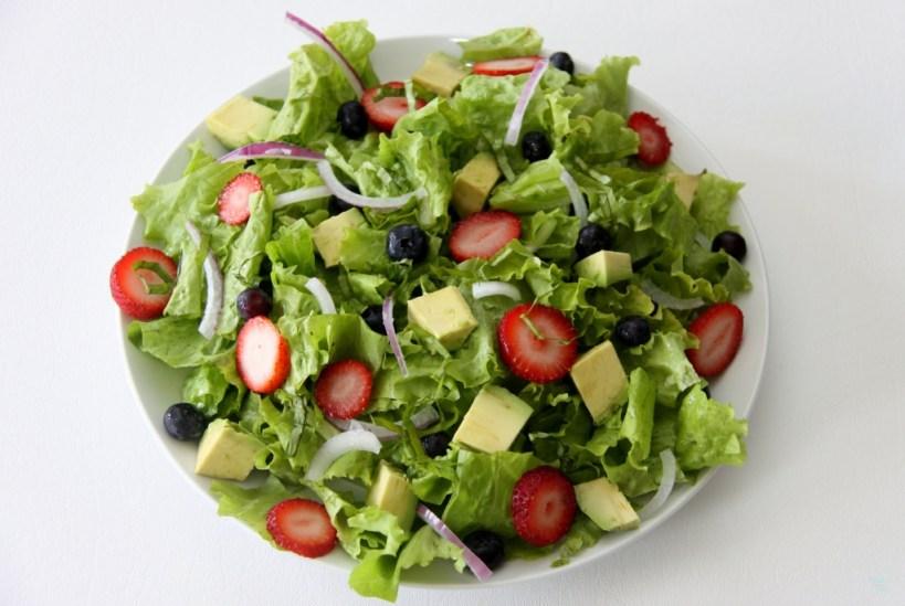 Summer Berry Avocado Salad