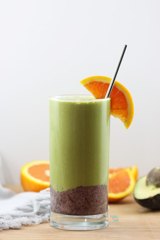 Tropical Acai Chia Green Smoothie