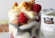Pineapple Raspberry Coconut Yogurt Parfait WM