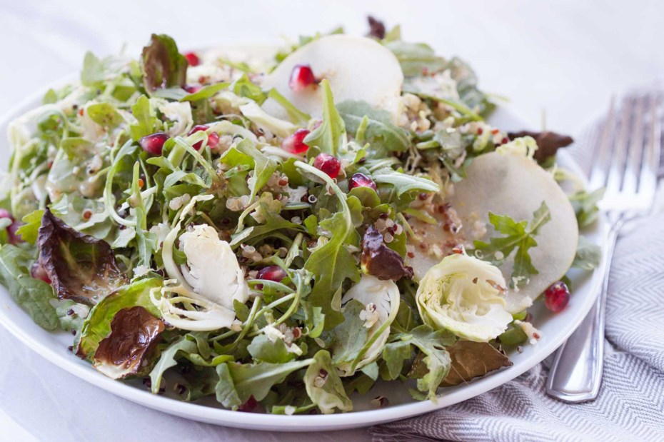 Apple Brussel Sprout Fall Salad