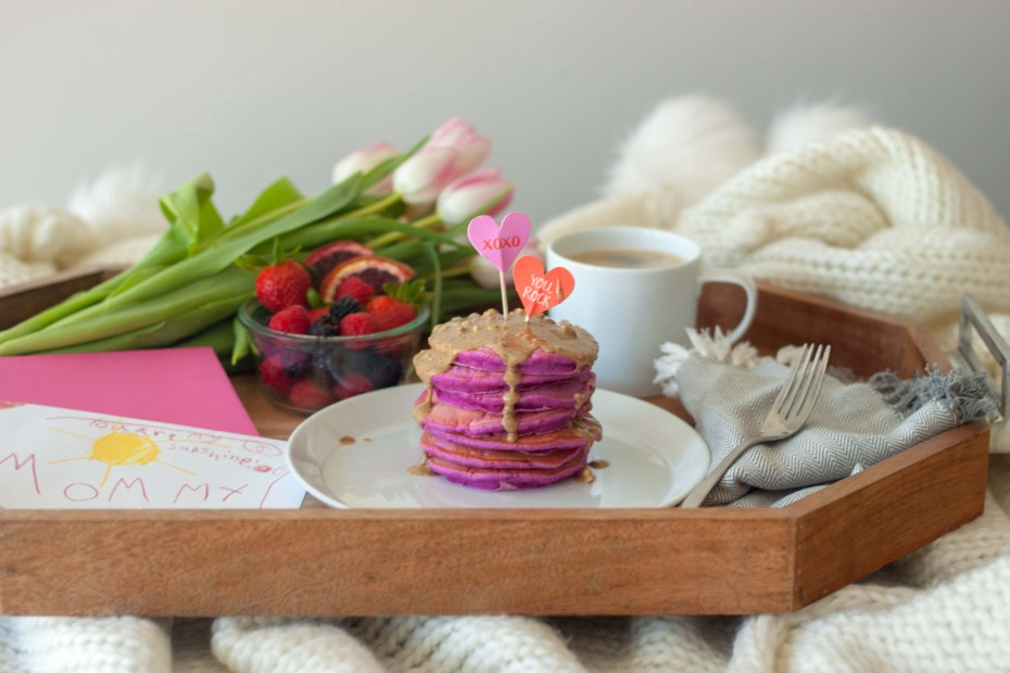 Pretty In Pink Pitaya Pancakes for Mother's Day