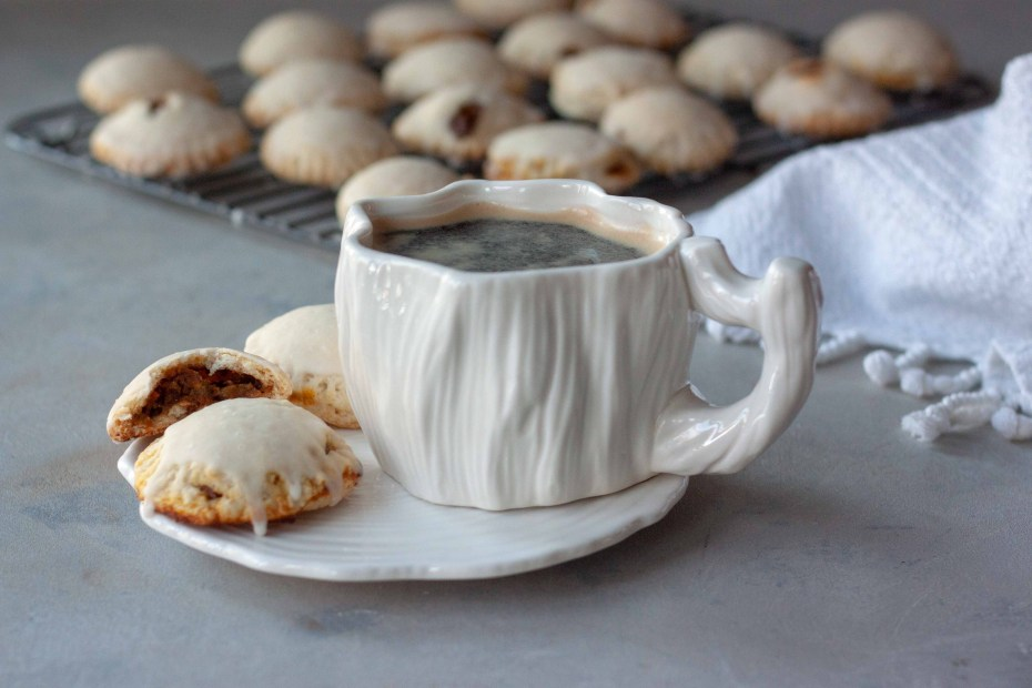 Mini Pumpkin Pie Pop Tarts and cup of coffee