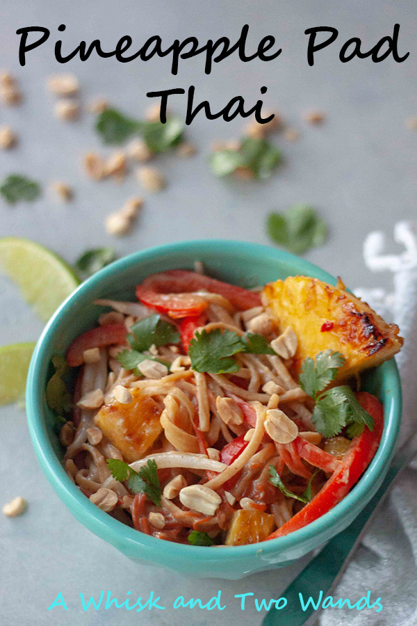 Simple Pad Thai with caramelized sweet chili pineapple will have your taste buds dancing. Cleaned up and option to use protein noodles. Vegan and gluten free friendly.