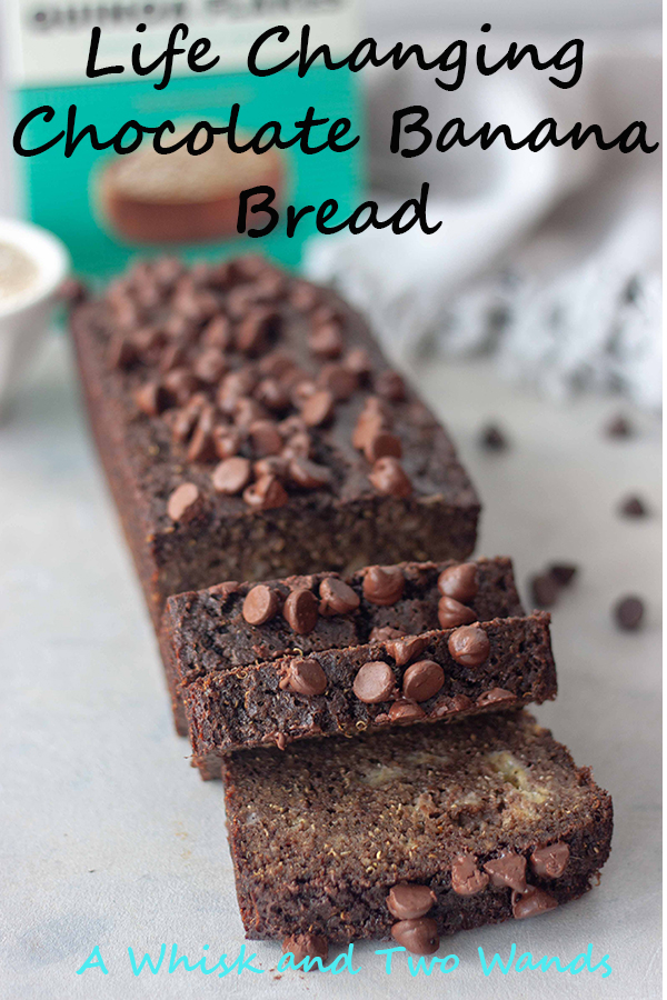 Life Changing Chocolate Banana Bread is gluten free, dairy free, and high in protein! Simply sweet moist banana bread paired with chocolate, it's a real treat you'd never guess is healthy and packed with nutrition!
